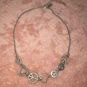 Aeropostale Peace & Love Necklace